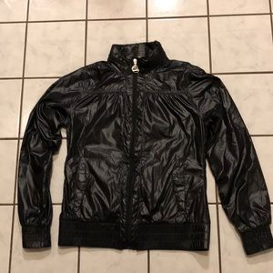 The North Face Shiny Black Jacket W/ Hood size S